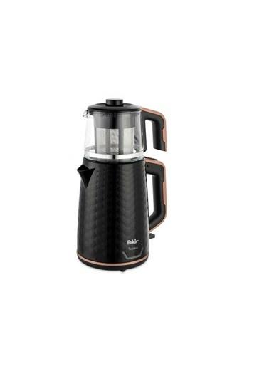 Fakir Tastea Siyah Rose 1650 W Cam Demlikli Çay Makinesi Siyah